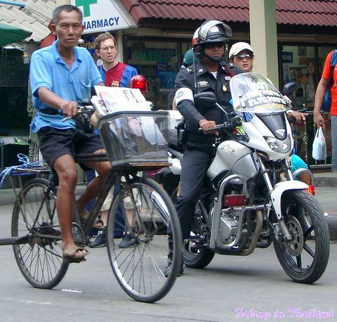 Fahrradfahrer Thailand