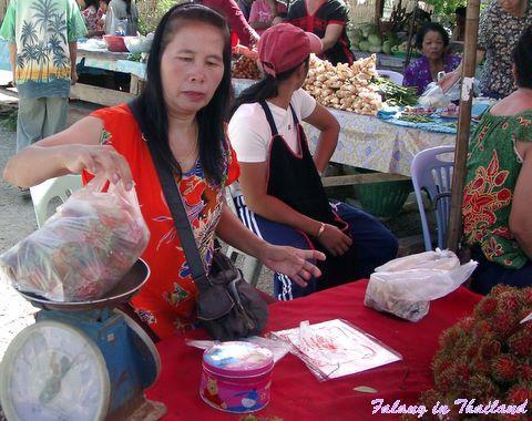 Thailändischer Markt - Rambutan oder Zwillingspflaume