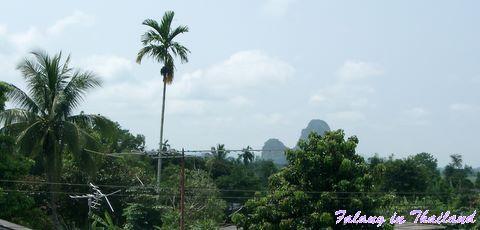 Blick aus dem Fenster Thailand
