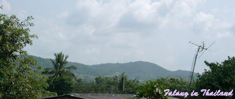 Blick auf Hügelkette