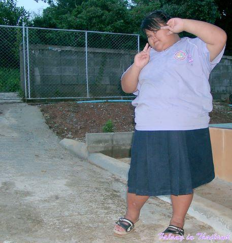 Fettleibiges thailändisches Mädchen