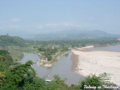 Blick auf Goldenes Dreieck - Thailand - Burma - Laos