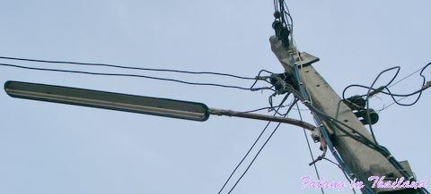 Strassenlaterne mit Leuchtstofflampe Thailand