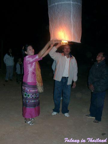 Loi Krathong - Khom Loi starten