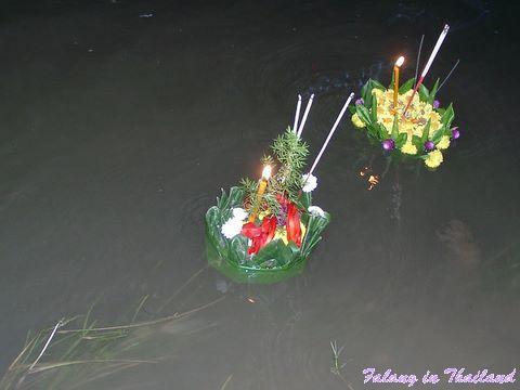 Schwimmende Krathongs - Loi Krathong