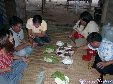 Thailändische Hochzeit - essen und trinken