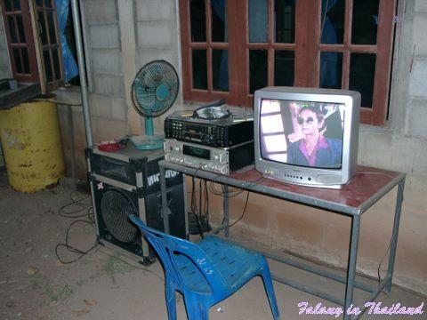 Thailändische Hochzeit - Karaoke Anlage