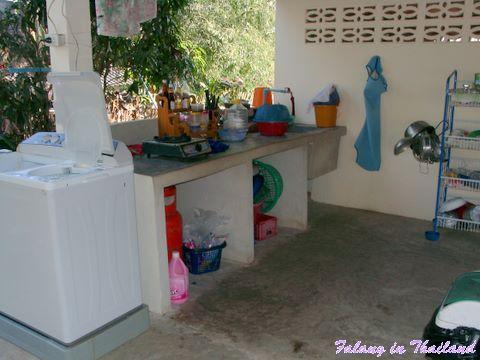 Kochen und Waschen Thailand