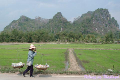 Fliegende Händlerin Thailand