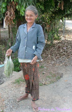 Stolze alte Frau Thailand