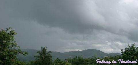 Dunkle Wolken in Thailand