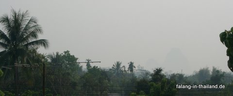 Smoke in Nordthailand